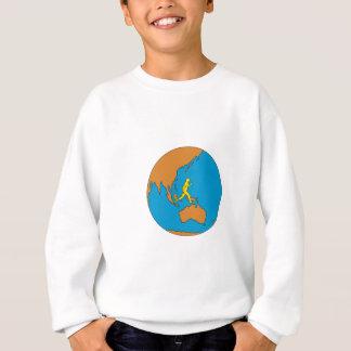 Marathon Runner Running Around World Asia Pacific Sweatshirt