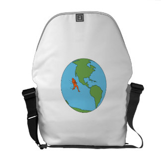 Marathon Runner Running North and South America Dr Courier Bags