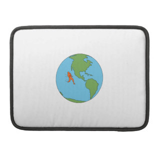 Marathon Runner Running North and South America Dr Sleeve For MacBook Pro