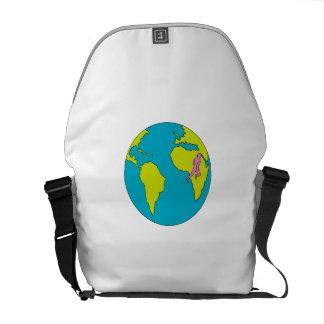 Marathon Runner Running South America Africa Drawi Commuter Bags