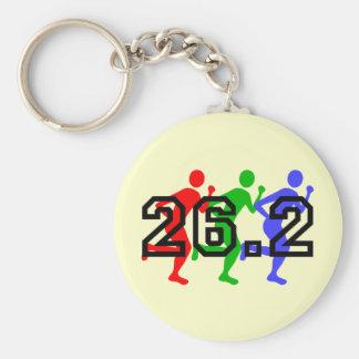 Marathon runners key chain