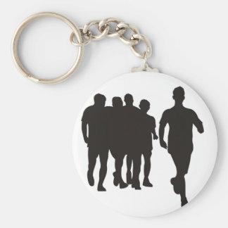 Marathon Running Basic Round Button Key Ring