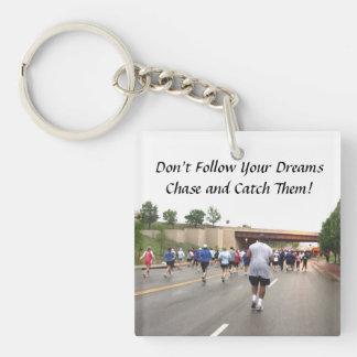 Marathon Running Key Chain