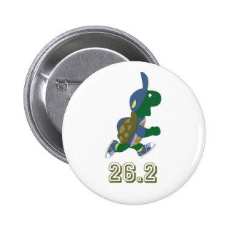 Marathon Turtle Runner in Blue 6 Cm Round Badge