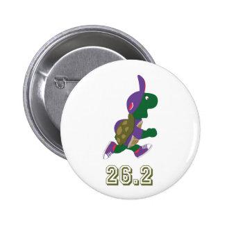 Marathon Turtle Runner in Purple 6 Cm Round Badge