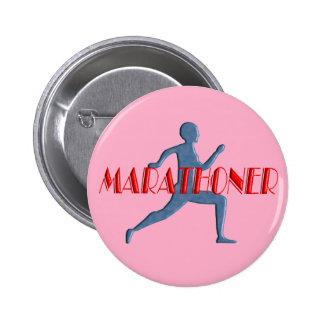 Marathoner Button - Marathon Souvenir