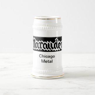 Marauder band  #1 white beer stein