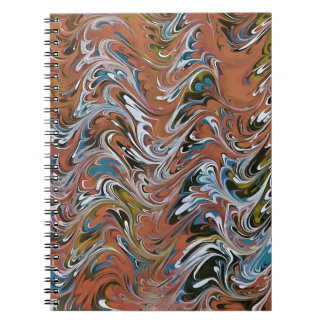 Marble Abstract In Red Spiral Notebook
