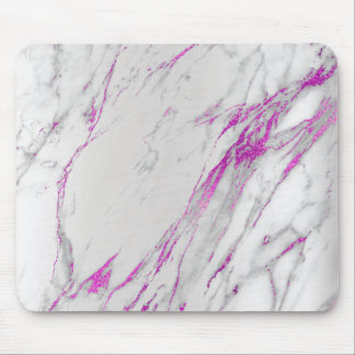 Marble Abstract Silver Gray White Unique Mouse Pad
