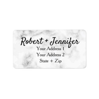Marble and gold elegant wedding label