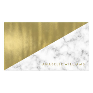 Marble and Gold Texture Pack Of Standard Business Cards