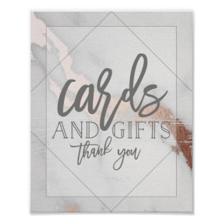 MARBLE AND METALLIC CARDS AND GIFTS POSTER