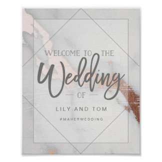 MARBLE AND METALLIC WELCOME TO THE WEDDING POSTER
