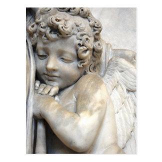 Marble Angel in Venice Postcard