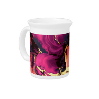 Marble artwork, gold and purple. pitcher