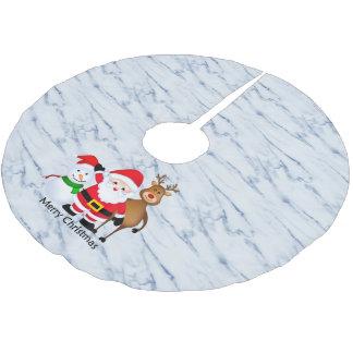 Marble background christmas tree skirt