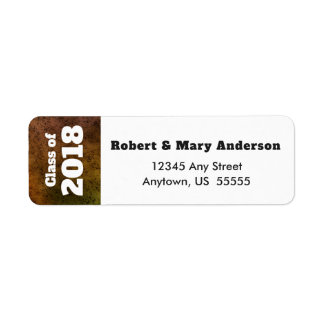 Marble Background | Class of 2018 Return Address Label