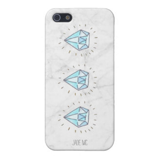 marble background with diamonds phone case cover for iPhone 5/5S