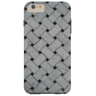 Marble Basket-Weave Tough iPhone 6 Plus Case