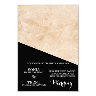 Marble Black and White Wedding Card