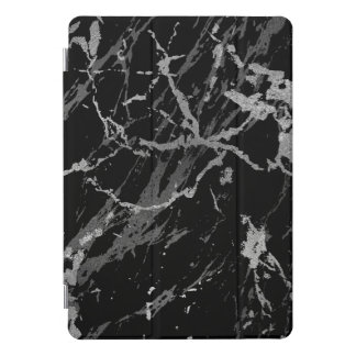 Marble Black Silver  Stone Gray Abstract Lux iPad Pro Cover