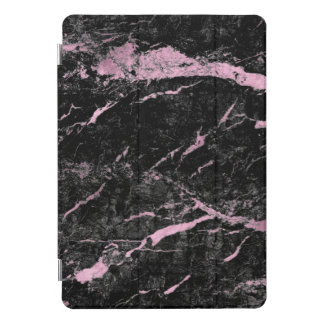 Marble Black Silver  Stone Pink Abstract Lux iPad Pro Cover