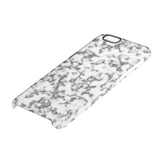 Marble black white clear iPhone 6/6S case