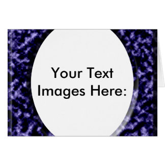marble blue square frame template greeting card