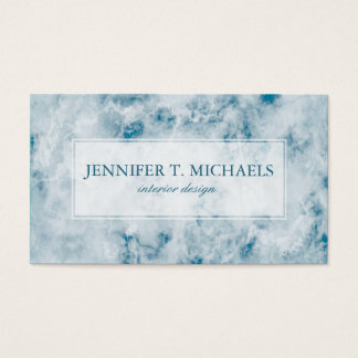 Marble Blue Texture Background Business Card