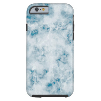 Marble Blue Texture Background Tough iPhone 6 Case