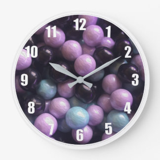 Marble Candy Design Wall Clock