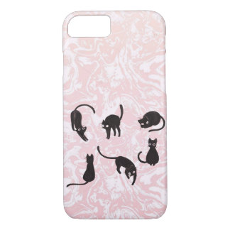 Marble cat iPhone case