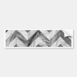 Marble chevron bumper sticker