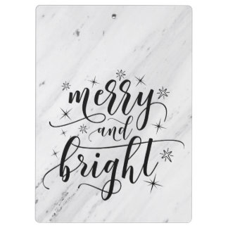 Marble Christmas holiday Clipboard