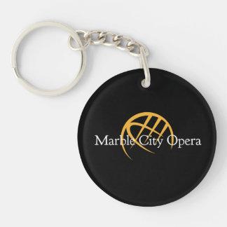 Marble city opera keychain
