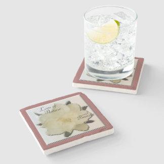 Marble Coaster - Magnolia Love of Nature & Beauty Stone Beverage Coaster