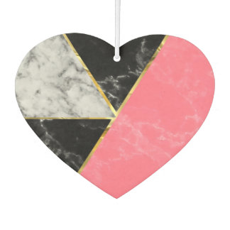 Marble color collection geometric abstract design car air freshener