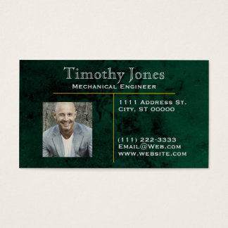 Marble Color Elegant Business Cards: Green Business Card
