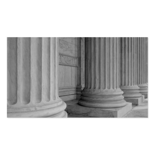 Marble Columns Double-Sided Standard Business Cards (Pack Of 100)