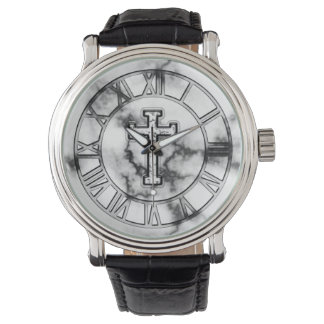 Marble Cross Watch