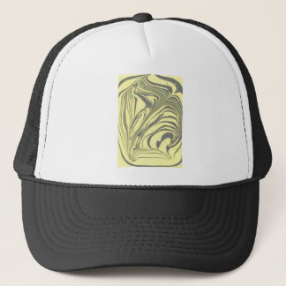 Marble design trucker hat