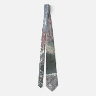 Marble effect tie
