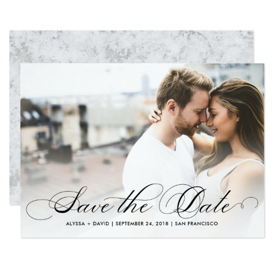Marble Elegance | Photo Save the Date Card