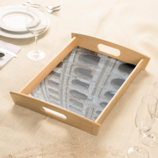 Marble Face of the Colosseum Serving Tray