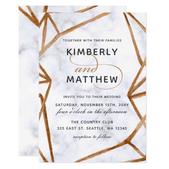 Marble Geometric Wedding Invitation