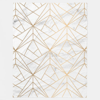 Marble, Geometry and Gold Fleece Blanket