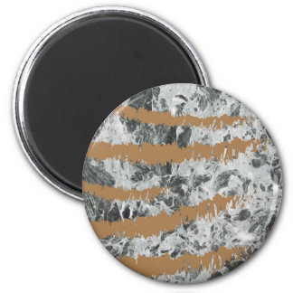 Marble&gold 6 Cm Round Magnet