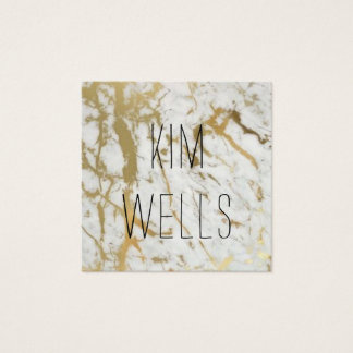 marble gold white stone modern business card