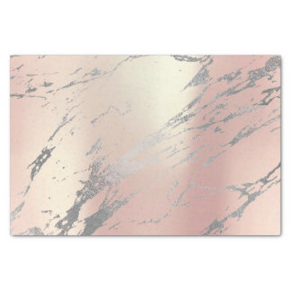 Marble Gray Pink Rose Gold Metallic Silver Tissue Paper