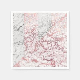 Marble Gray Silver White Carrara Stone Geometry Disposable Napkin